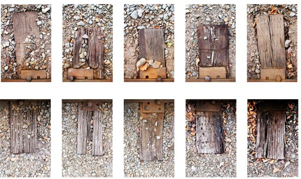 Groupings, Railroad Ties (2010) Photographic series