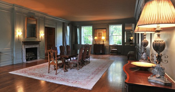 The former ballroom is now the family's formal dining room and reserved for special occasions.