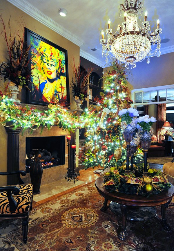 """""""Marilyn"""" gives Pop-art glamour to the fabulously decorated living room"""