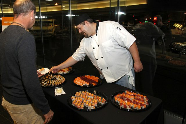 Sushi spread thanks to Sekisui of Midtown.