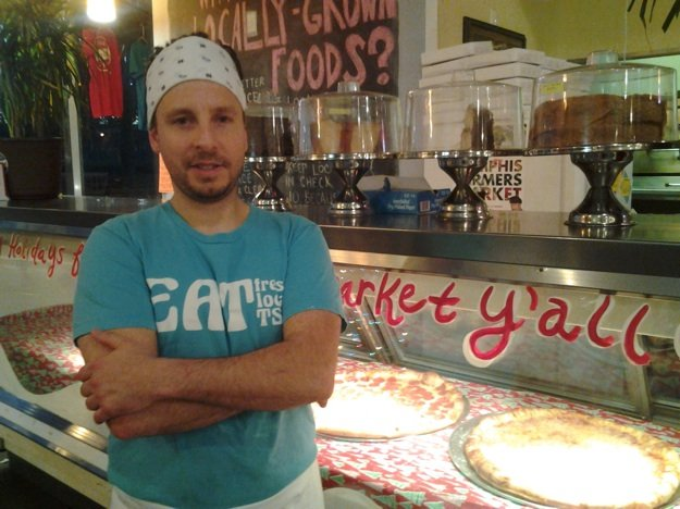Jeremy Denno, who also manages Trolley Stop Market, is heading east.