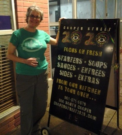Kathy Katz sells prepared foods to-go at her new grocery called Cooper Street 20/20.