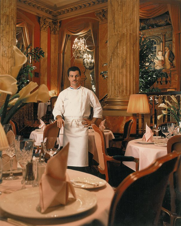 Chef Jose Gutierrez in the mid-1980s at Chez Philippe.