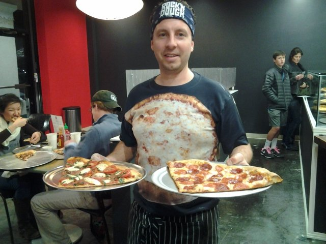 Jeremy Denno, above, and Amanda Preston opened Rock 'n Dough Pizza Co. Friday in Park Place.
