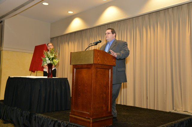 MBQ Editor, Greg Akers, leads the 2013 MBQ CEO Awards presentation.