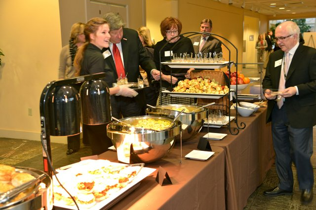 Breakfast provided by Simply Delicious Catering and Bella Caffe.