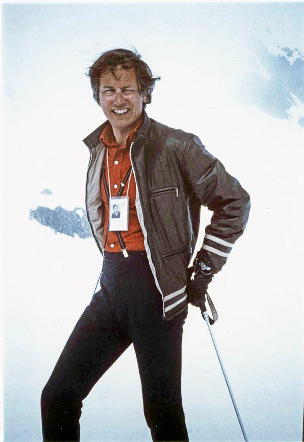 Shelby Tucker in St. Moritz, 1972