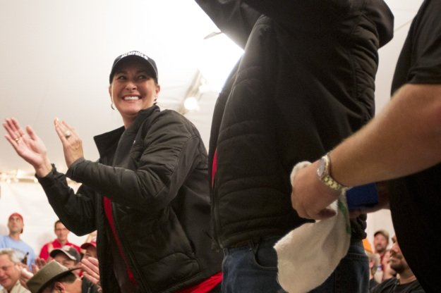 Melissa Cookston celebrates another win for Yazoo's Delta Q.