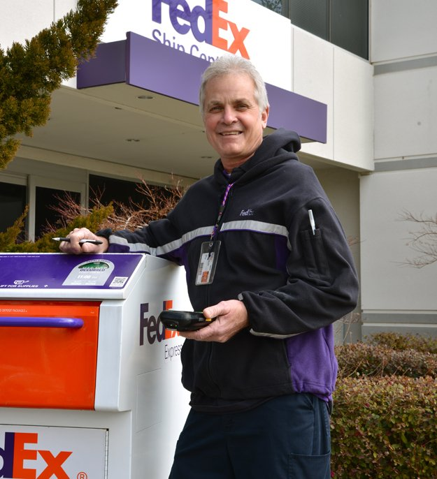 "A courier since 1984, Ricky Moore is the face of FedEx for many companies who use its services. ""Most people like to cut up,"" he says. ""That's the cool thing about it."""