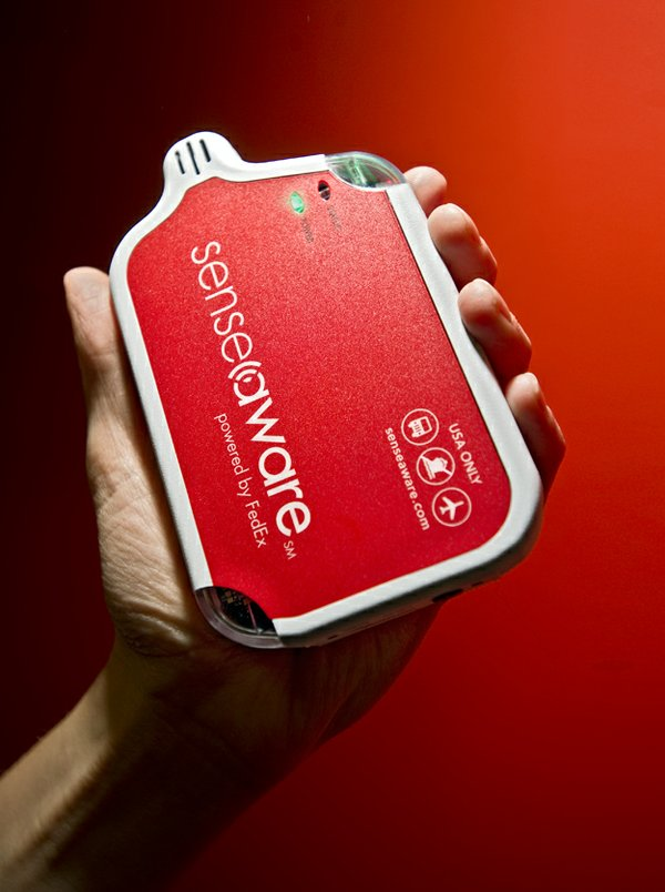 SenseAware not only tracks a package's location but allows customers to follow its journey in real time and monitor such factors as temperature and light exposure.