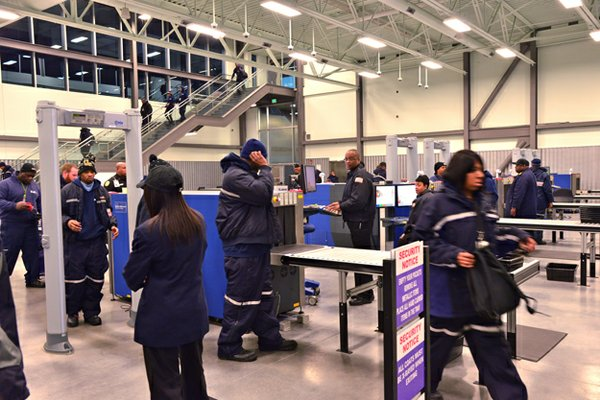 For safety and theft-deterrence, all employees and visitors go through security screening as they enter and depart the FedEx World Hub.