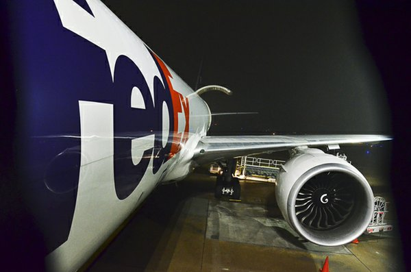 The newest addition to FedEx's fleet, the giant Boeing 777, can fly nonstop to anywhere in the world from Memphis.