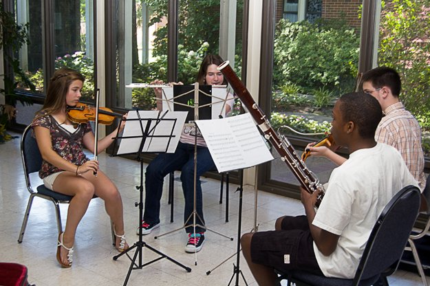 Students at the 2011 PRIZM Chamber Music Festival