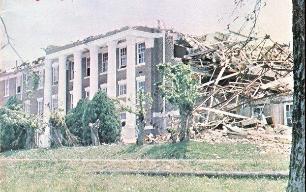 Jonesboro High School was in the direct path of the 1973 tornado.