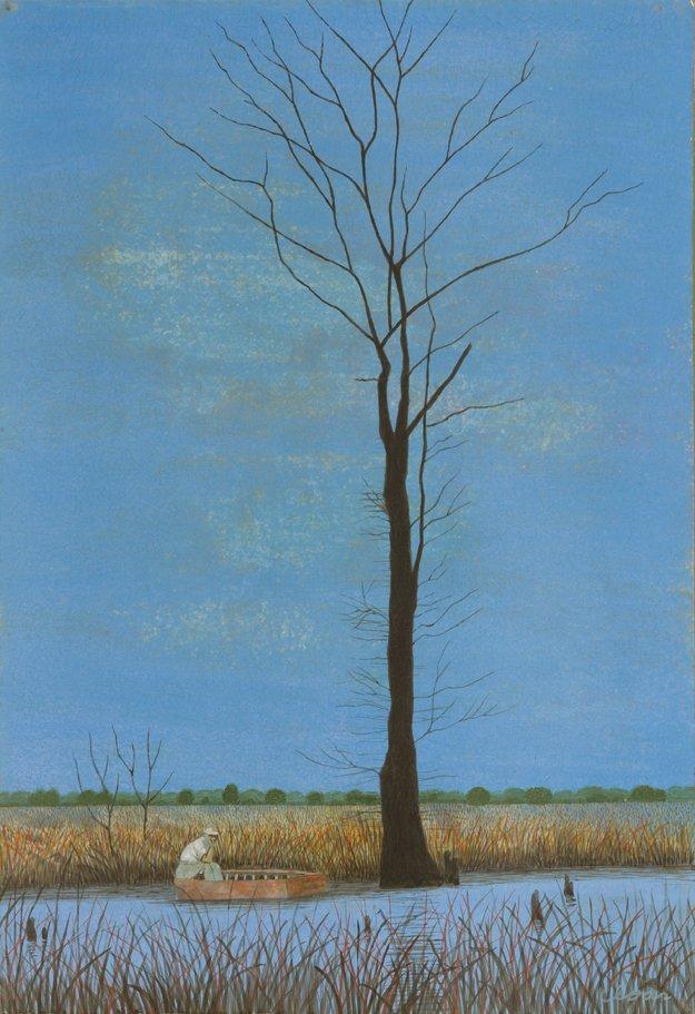 Carroll Cloar, American, 1913-1993The Big Cypress, 1964Casein tempera on MasoniteArkansas Arts Center Foundation Collection:Gift of Mr. and Mrs. John Pope Matthews. 1993.061.003©Estate of Carroll Cloar