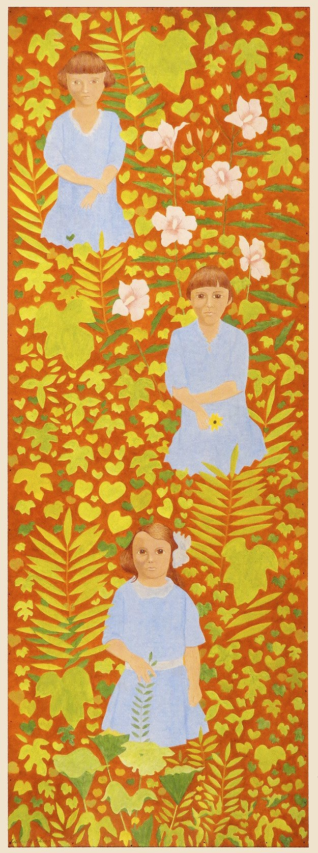 Carroll Cloar, American, 1913-1993The Garden of Love, ca. 1960Acrylic on plywoodCollection of Barbie and Ray Dan©Estate of Carroll Cloar
