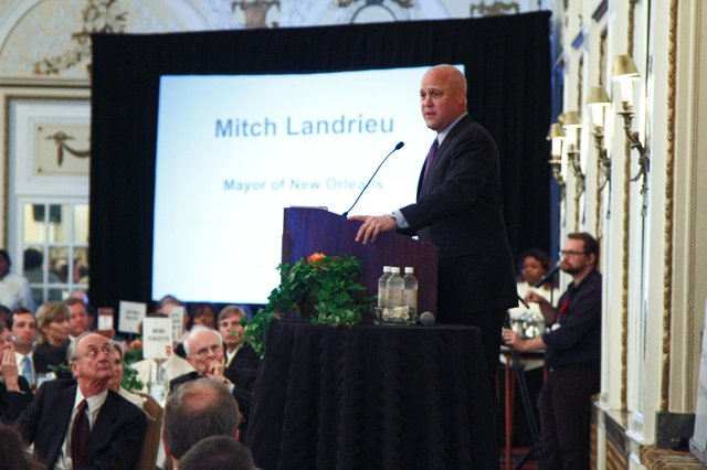 New Orleans Mayor Mitch Landrieu captivates the crowd with his discussion on how culture shapes an urban environment.