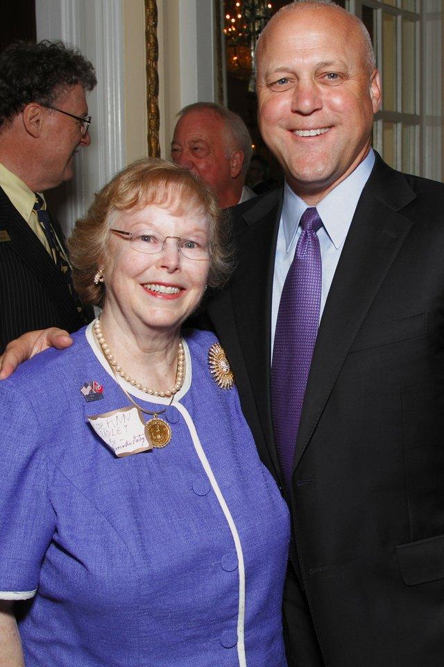 Rose Ann Bradley and New Orleans Mayor Mitch Landrieu