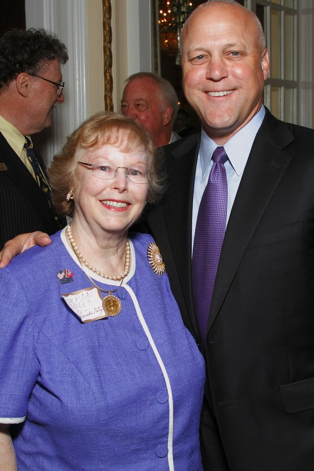 Rose Ann Bradley and New Orleans Mayor Mitch Landrieu