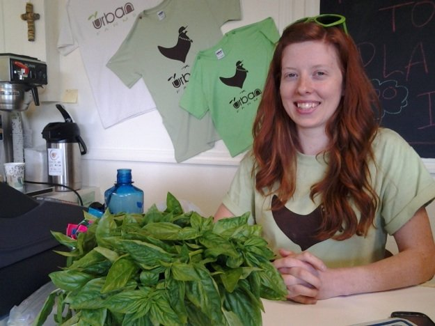 Alicia Fahrner relocated from Brooklyn to manager Urban Farms in Binghampton.