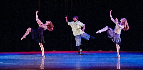 """Lil Buck's signature piece is """"The Swan,"""" performed here with the Midtown-based New Ballet Ensemble. 