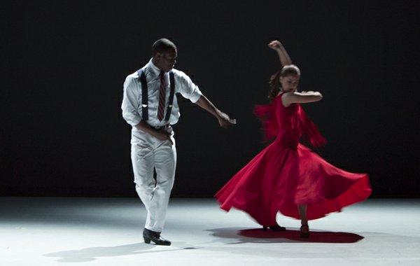 Shamar Rooks with the New Ballet Ensemble. | photograph courtesy new ballet