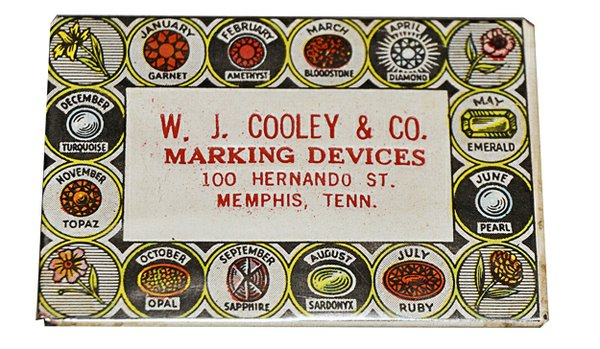 Shown here slightly larger than actual size, this little pocket mirror served as an advertising promotion for a Memphis firm that — according to some sources — remained in business for more than 100 years.