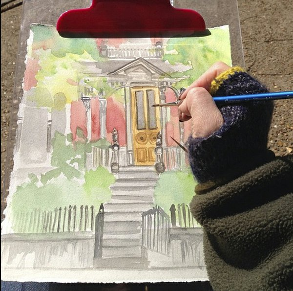 photograph and sketch by lindsay overbey   memphis urban sketchers
