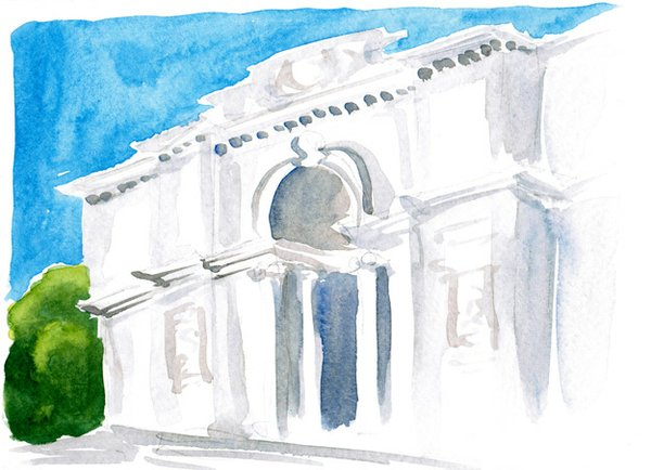 illustration by Martha Kelly | Memphis Urban Sketchers - Memphis Brooks Museum of Art