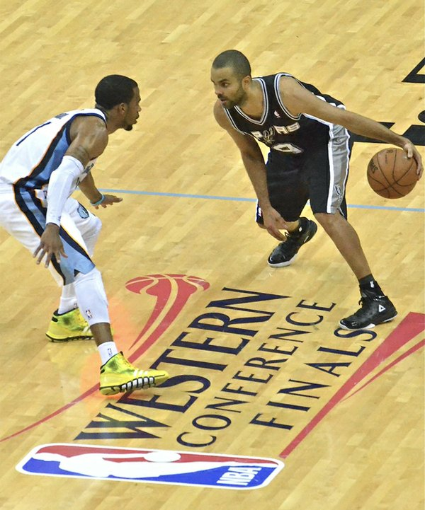 Mike Conley  (defending, above) and the Grizzlies will aim for  another deep run in the NBA playoffs.