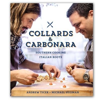 Boyhood pals Andrew Ticer and Michael Hudman released their first cookbook Tuesday, pictured above.