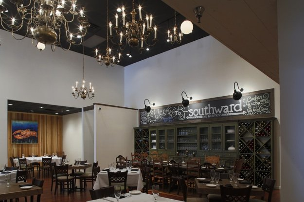 Southward Fare & Libations combines a rustic chic vibe with Chef Ryan Trimm's Southern fusion cooking.