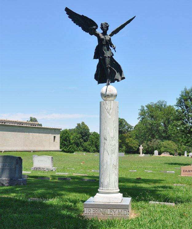 Dr. John Romulus Brinkley's gravesite in Forest Hill Cemetery.