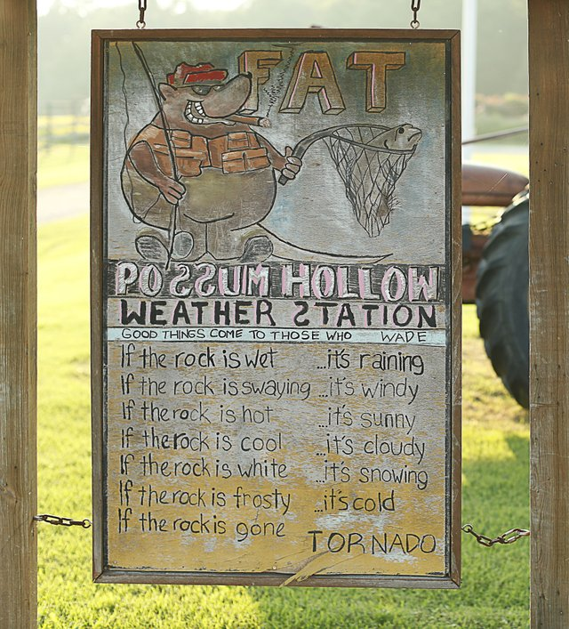 "The ""weather station."""