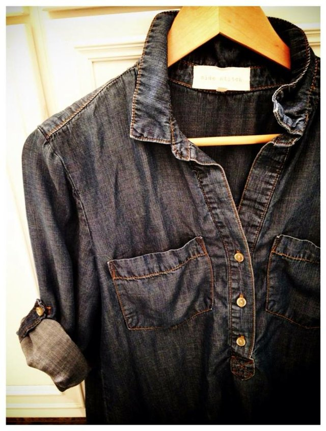 My new obsession-denim blouse.