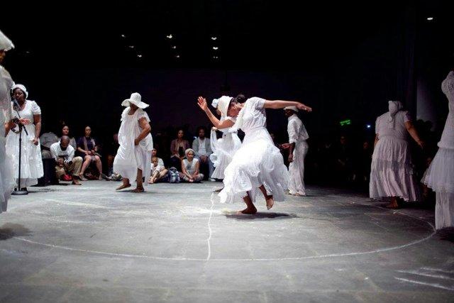 Rashida Bumbray and the Dance Diaspora Collective (founded 2006) featuring Jason Moran (piano), Run Mary Run, 2011 Video performanceCollection of the artist