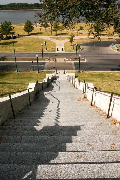 #27 - Climb the 84 steps near the south end of the Bluff Walk.