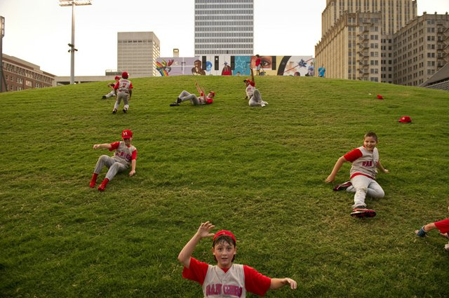 #37 - Picnic on the leftfield bluff at AutoZone Park