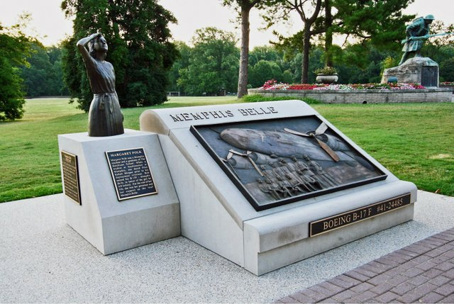 The plane has left our city, but the spirit of the Memphis Belle remains here, in a memorial in Overton Park designed by MBMA member Andy Pouncey. A sculpture of Margaret Polk, crafted by local artist Andrea Lugar, gazes skyward, with bronze plaques ...