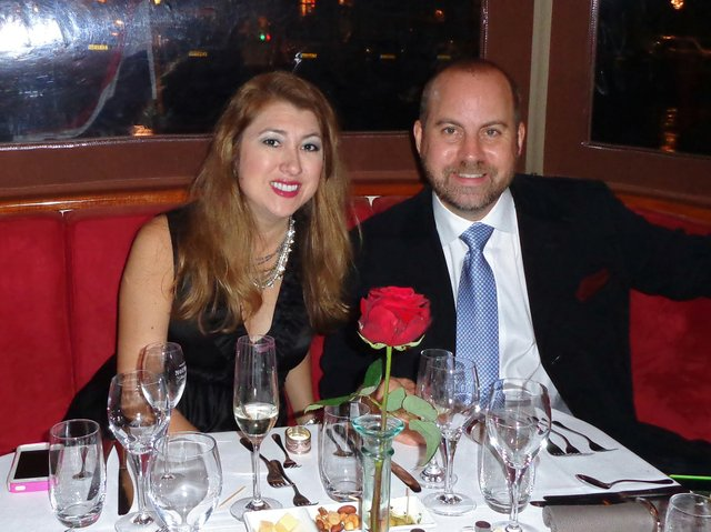Suzanne New and her husband Erick, the birthday boy