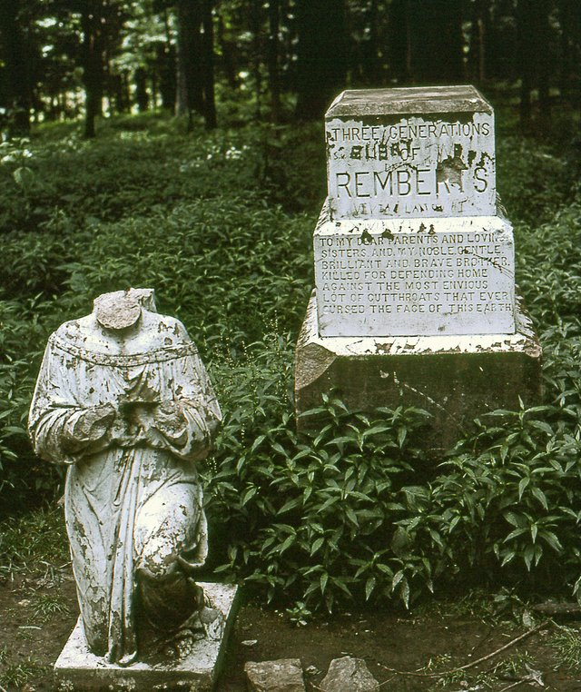 All that was left of the Crying Angel in 1990.