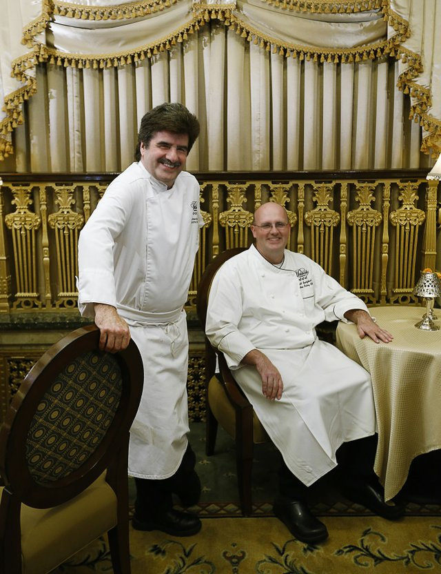 Peabody executive chef Andreas Kisler and executive pastry chef  Konrad Spitzbart.