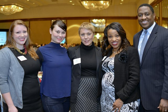 Tierney Bamrick, Aimee Hurley, Jennifer Bradner (Honoree) of Opera Memphis, Myra McCaskill (Honoree) of Keller Williams Realty, and Reggie Crenshaw