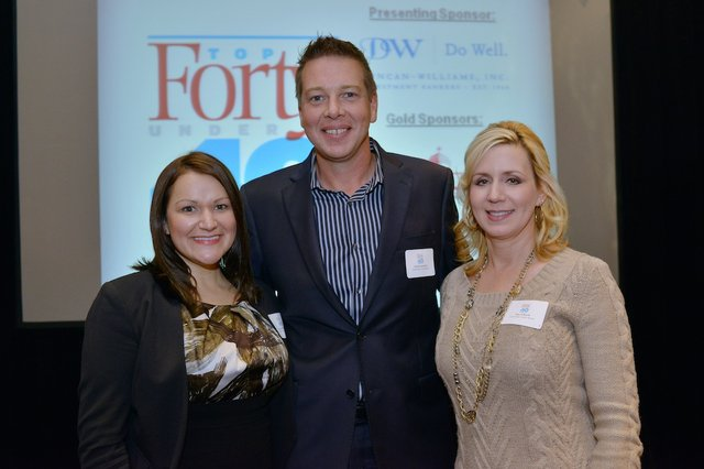 Elizabeth Slade, Niklas Rytterstrom (Honoree) of Gold Strike Casino Resorts, and Tina O'Keefe