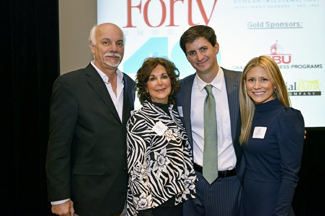 Jimmy Tashie, Nancy Tashie, David Tashie (Honoree) of Malco Theatres Inc., and Chrissie Tashie