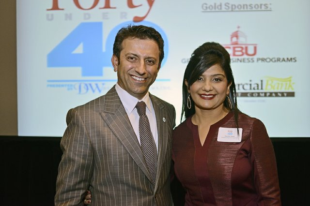 Anwar Aman (Honoree) of Radiant Group of Companies and Narseen Aman
