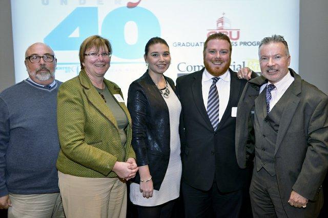 Al Larson, Nancy Larson, Emily Miller, Todd Miller (Honoree) of Yuletide Office Solutions, and Christ Miller