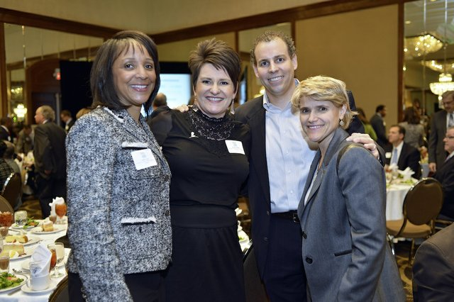 Emily Greer, Emily Callahan (Honoree) of ALSAC/St. Jude CHildren's Research Hospital, Jason Callahan, and Melanee Hannock
