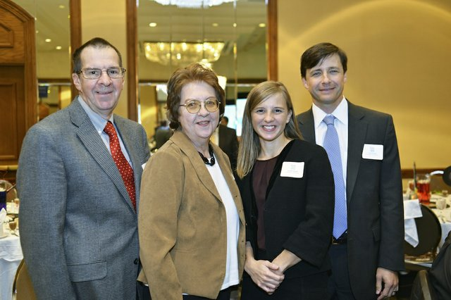 Richard Korthauer, Cheryl Korthauer, Jennifer Oswalt (Honoree) of Contemporary Media, Inc. - parent company of Memphis magazine, and Chris Oswalt