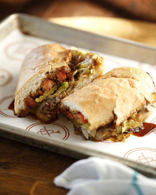 Authentic po'boys made with New Orleans French bread anchor the menu.